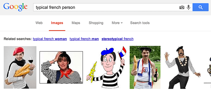 Actual Google results
